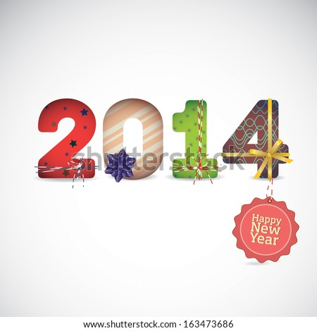 2014 Happy New Year - stock vector