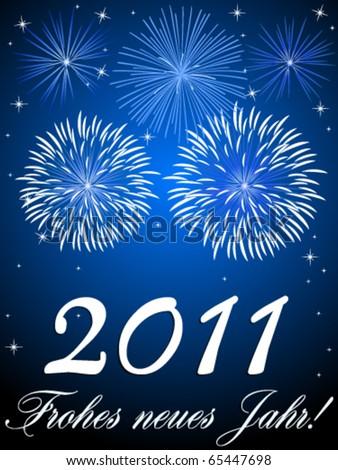 2011 - Happy New Year! - stock vector