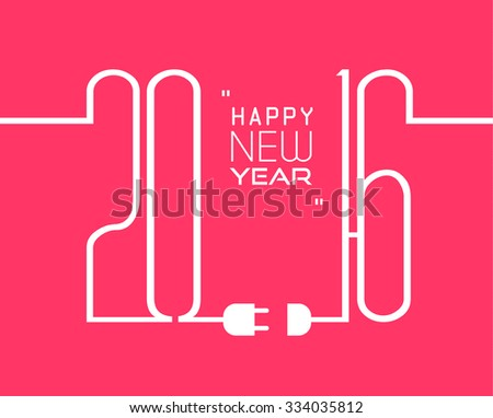 2016 Happy New Year and Merry Christmas Background for your seasonal wallpapers,  Christmas menù ,greetings card, dinner invitations, pary flyers, covers and so on. - stock vector