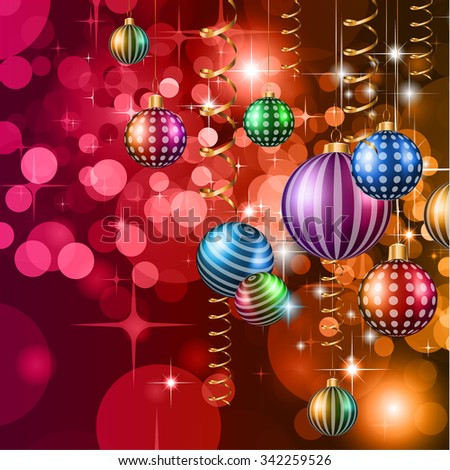 2016 Happy New Year and Merry Christmas Background for your seasonal wallpapers, greetings card, dinner invitations, pary flyers, covers and so on.
