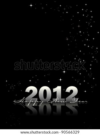 2012 Happy New Year Background - stock vector