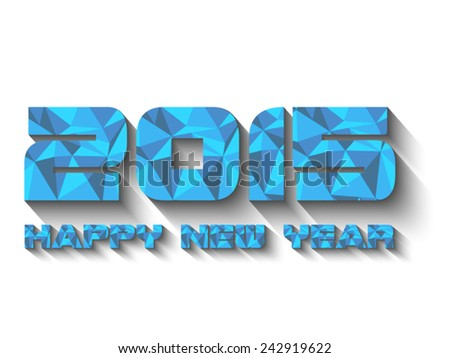 2015 HAPPY NEW YEAR BLUE - stock vector