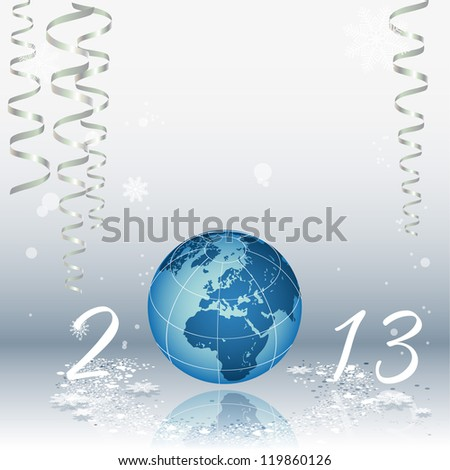 2013 happy new year celebration background for your posters - stock vector