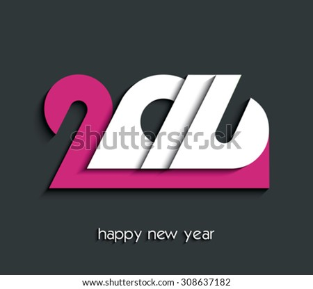 2016 Happy New Year creative background for your greetings card, flyers, invitation, posters, brochure, banners, calendar - stock vector