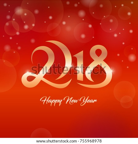 2018 happy new year greetings card stock photo photo vector 2018 happy new year greetings card m4hsunfo