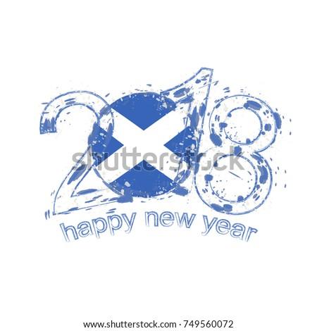 2018 happy new year scotland grunge stock vector 749560072 2018 happy new year scotland grunge vector template for greeting card calendars 2018 seasonal m4hsunfo
