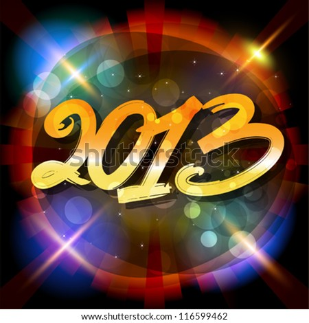 2013 Happy New Year vector card or background.