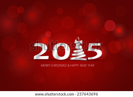 2015 Happy New Year. Vector illustration. - stock vector