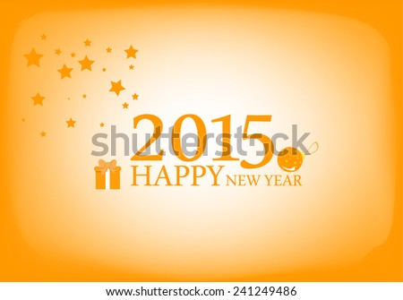2015 Happy New Year . vector or illustrator file organized in layers for easy editing.  - stock vector