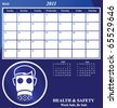 2011 Health and Safety calendar for the month of May - stock vector
