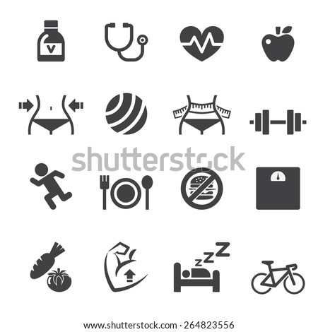 healthy icon - stock vector