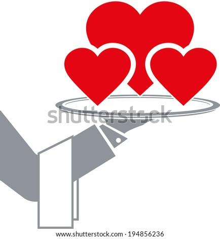 heart  service - stock vector