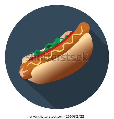 hot dog sandwich icon - stock vector