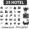 25 hotel icons set, vector illustrations - stock photo