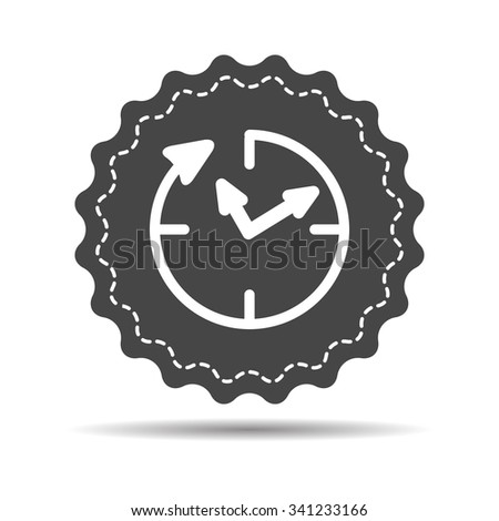 24 hour assistance , clock Icon Isolated on white Background - stock vector