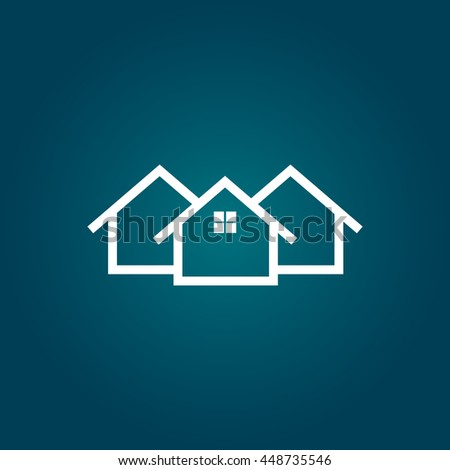 House flat vector illustration - stock vector