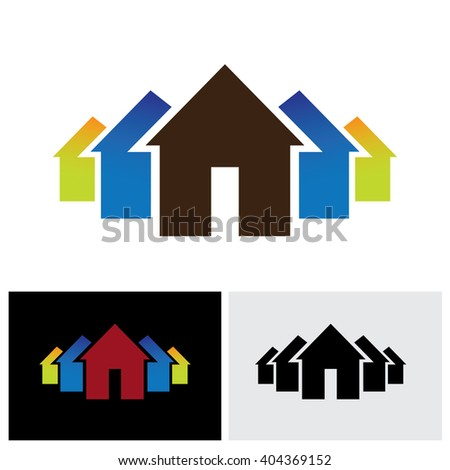 house property icon vector logo in eps 10 format - stock vector