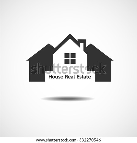House Real Estate country logo design Vector illustration EPS10 - stock vector