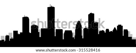 Houston City Skyline - stock vector