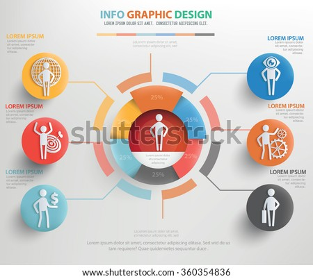 Human resource info graphic design, vector - stock vector