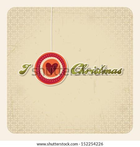 i love christmas - stock vector