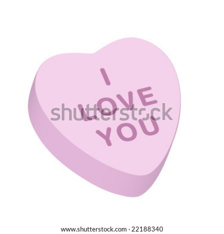 """""""I Love You"""" Candy Heart - stock vector"""