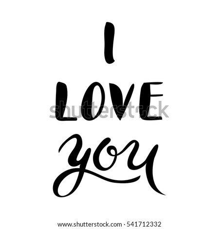 'i love you' hand lettering - handmade calligraphy scalable and editable vector illustration.