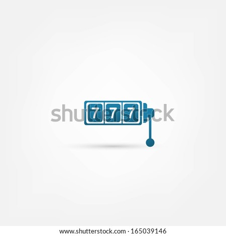 777 icon - stock vector