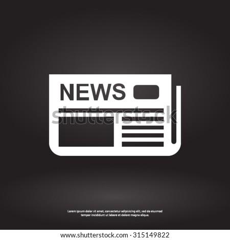 Icon of news. Flat design.  - stock vector