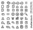 42 Icons Detailed Symbols - stock vector