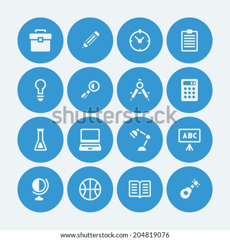 16 icons for Education school.Vector EPS10