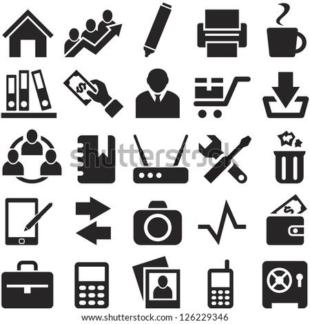 Icons for web and mobile. File in EPS10 format, that can be scaled to any size without loss of quality. - stock vector