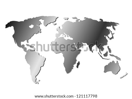 Illustrated world map with white background