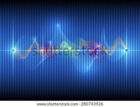 Illustration Abstract futuristic wave-digital  technology concept. vector background