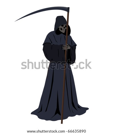 illustration of the grim reaper harbinger of doom - stock vector