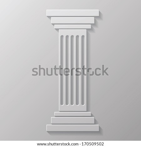 illustration with old column for your design - stock vector