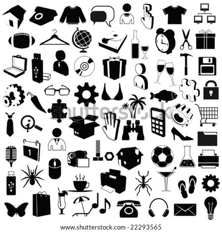 72 images for design v2 - stock vector