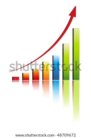 Increase diagram illustration - stock vector