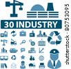 30 industry icons, signs, vector illustrations - stock photo