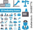 25 industry icons. vector - stock vector