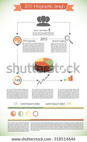 2015 infographic - stock vector