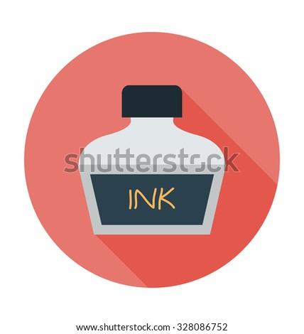 Inkpot  - stock vector