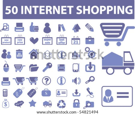 50 internet shopping signs. vector