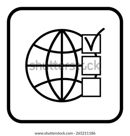 Internet - vector icon Internet - vector icon - stock vector