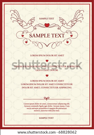 invitation card template - stock vector