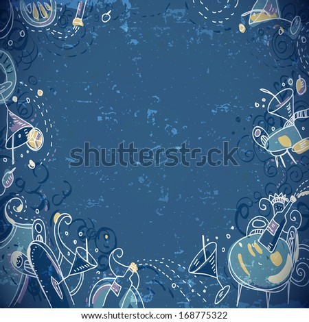 Invitation card  to cocktail party - stock vector