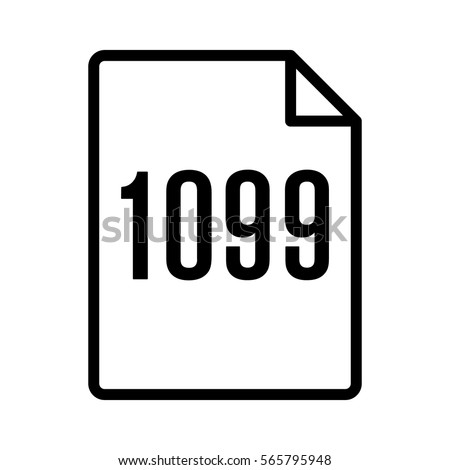 1099 Irs Tax Form Document Line Stock Vector 565795948 Shutterstock