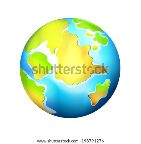 Isolated  Realistic Vector Globe - stock vector