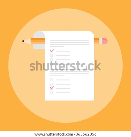 Isolated Test vector icon. Test logo. Concept exam, survey, testing. Test icon on flat style. School test. School exam. IQ test.  Test mark on a colored background. Test symbol. Test sign. Test icon - stock vector