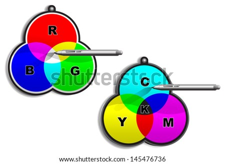 It's about proper color finding, designer's and pressman's tasks etc. EPS10, transparency and mesh tool was used. Smartly grouped and layered. - stock vector